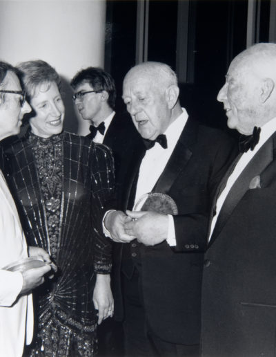 7th event. Andre Previn, Ann Rachlin, sir Alec Guinness, Ezra Rachlin