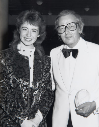 7th event. Evelyn with Andre Previn