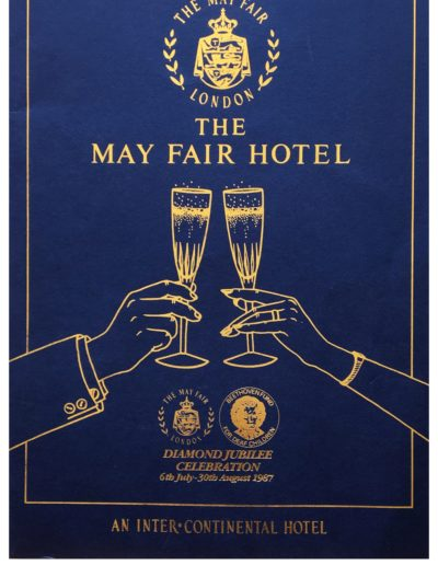 8th event. Brochure Mayfair Jubilee